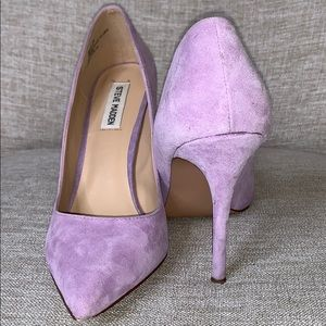 Purple suede pump-STEVE MADEN